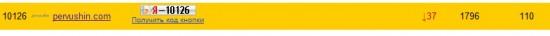 Позиции в рейтинге Яндекс.Блогов до проведения рекламной кампании