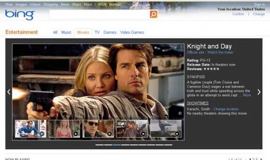 Найти фильмы в Bing теперь гораздо проще