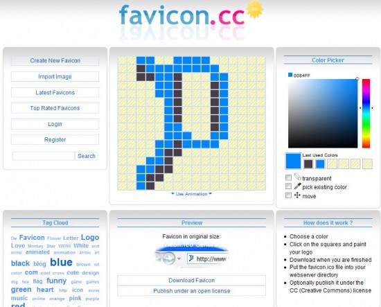 Графический онлайн редактор favicon.cc