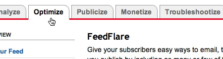 Настройка feedflare