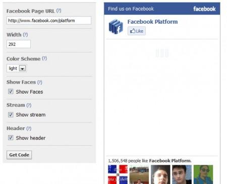 Переходим к настройке виджета facebook