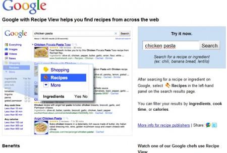 Google Recipe View - найдем что-нибудь вкусненькое