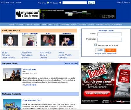 MySpace в убытке