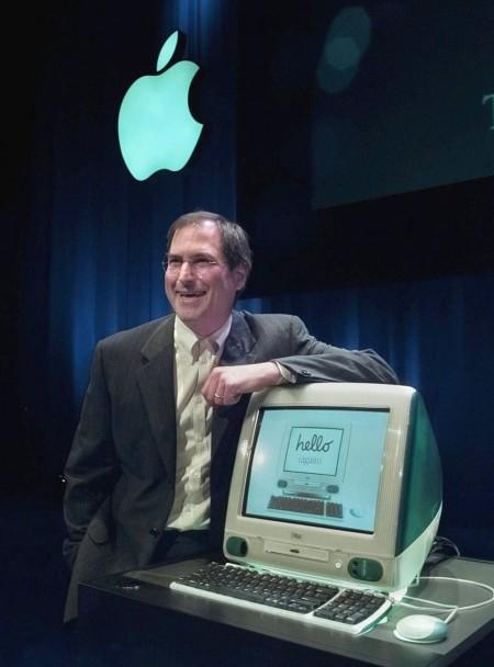 Стив Джобс представил новый компьютер iMac. 1998 год.