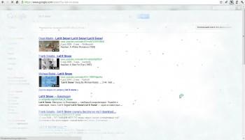 Новогодняя фишка от Google: экран покрывается льдом!