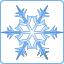 Кнопка-снежинка