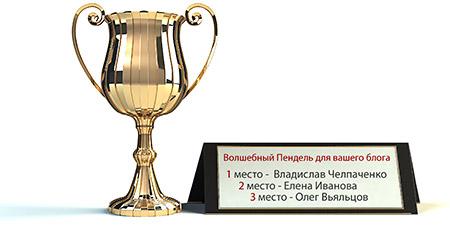 """Итоги конкурса """"Волшебный Пендель для Вашего блога 2012""""!"""