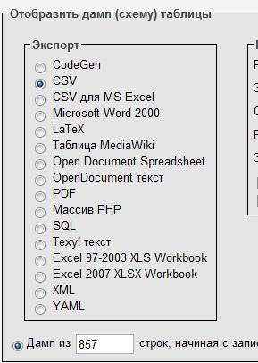 Выбираем формат для экспортированного списка email адресов