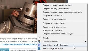Опция поиска похожих изображений в google картинках