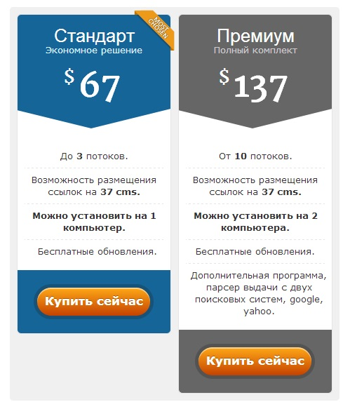 Варианты покупки Xneolinks