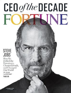 5 ноября 2009 года журнал Fortune назвал Джобса CEO десятилетия