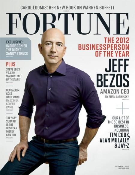 Журнал «Fortune» назвал Джеффа  Безоса «Бизнесменом года-2012»