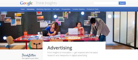 Приложение для рекламистов и маркетологов Google Think