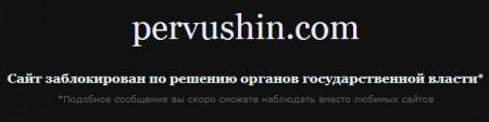 Pervushin.com заблокирован по решению органов государственной власти
